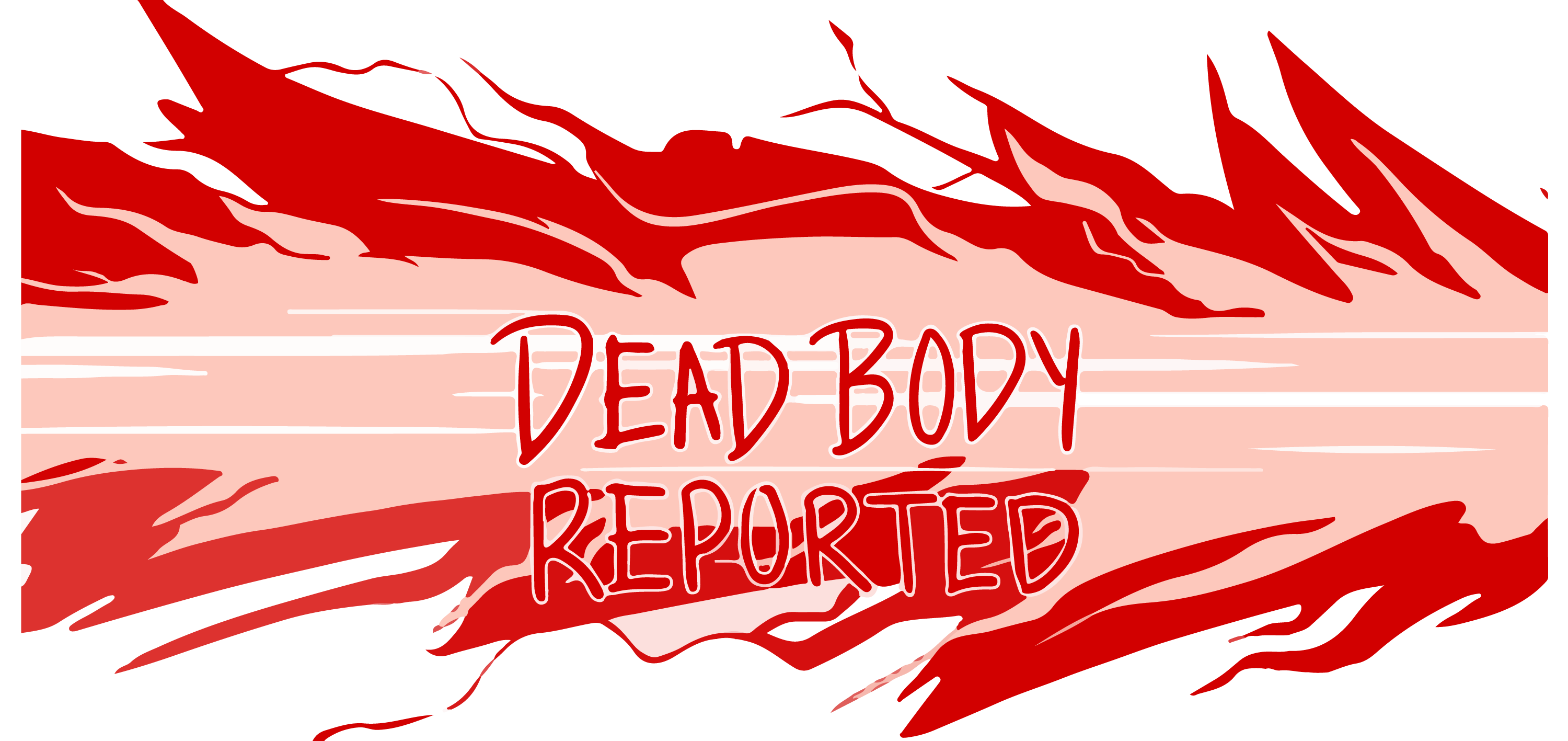 Among Us Dead Body Reported Vector Brand Logo Collection