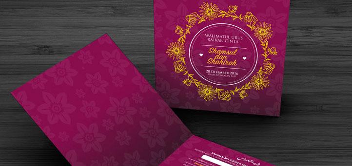 Template Kad Kahwin 2016 Download Free Design