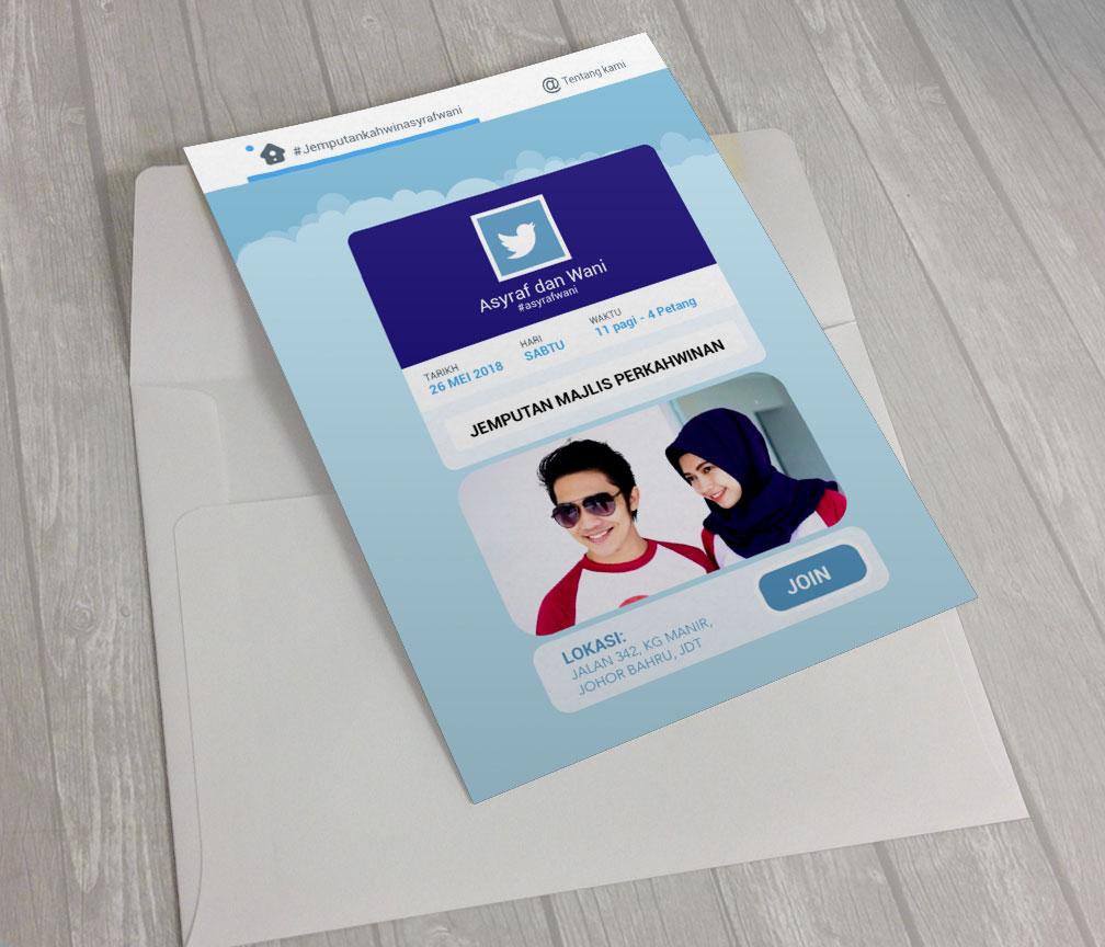 Kad Jemputan Kahwin Johor Bahru