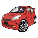 MYVI vector Car