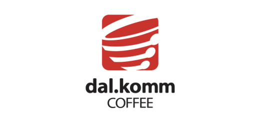 dalkomm coffee logo vector