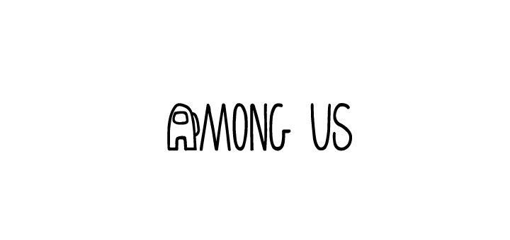 among us logo vector
