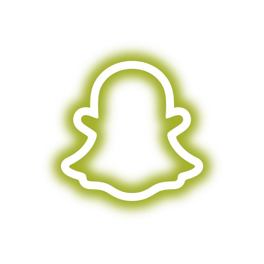 neon snapchat logo yellow
