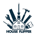 house flipper games Logo vector