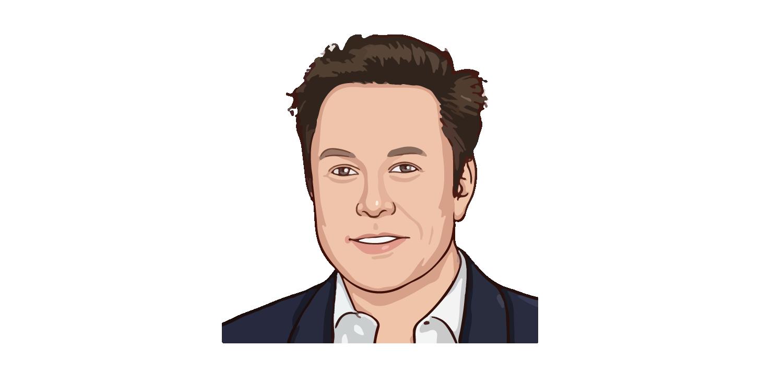 Elon Musk Face Vector