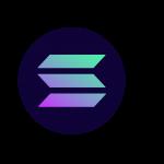 Solana SOL token symbol cryptocurrency logo