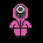 Squid Game Soldier Mask Pixel Vector