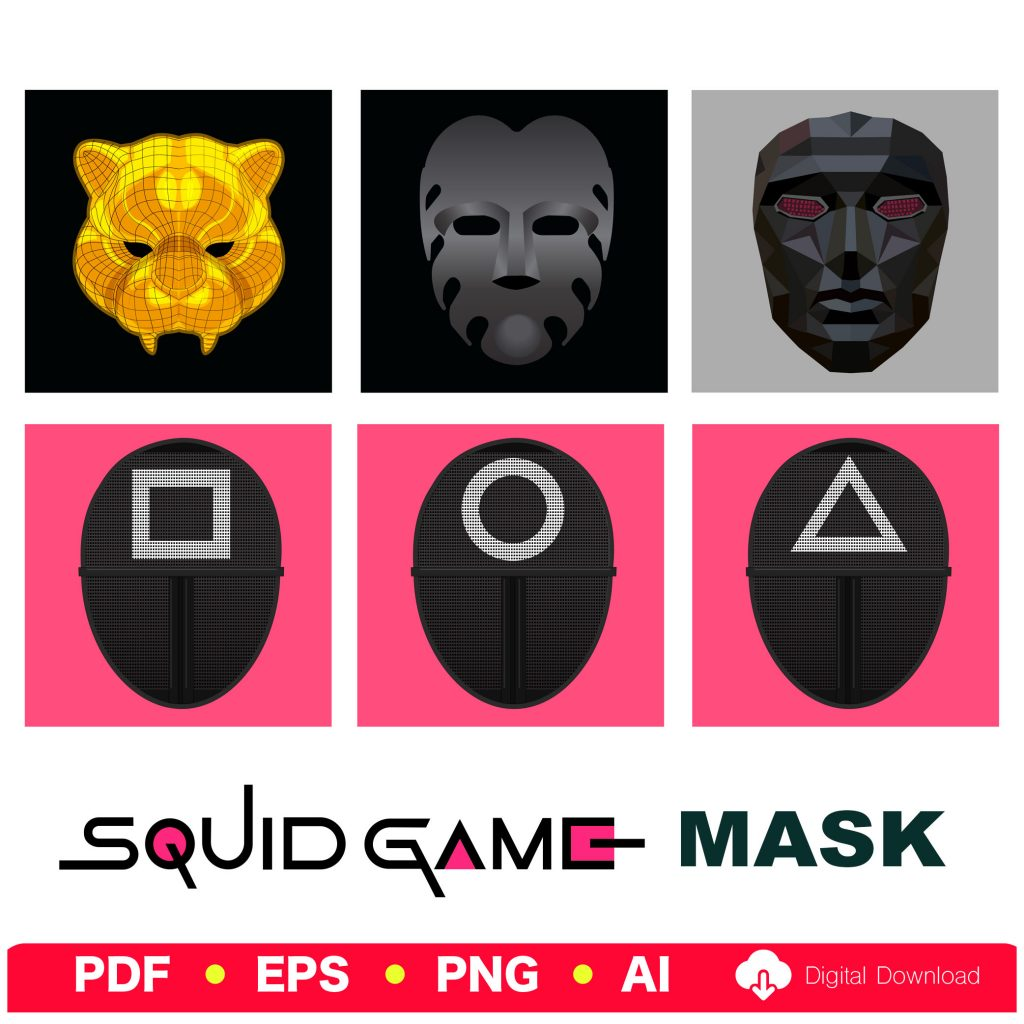 Squid Game Mask VIP Vector