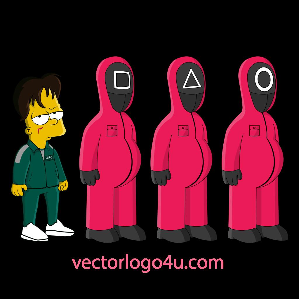 Squid Game The Simpson vector