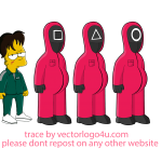 Squid Game The Simpson Style Vector