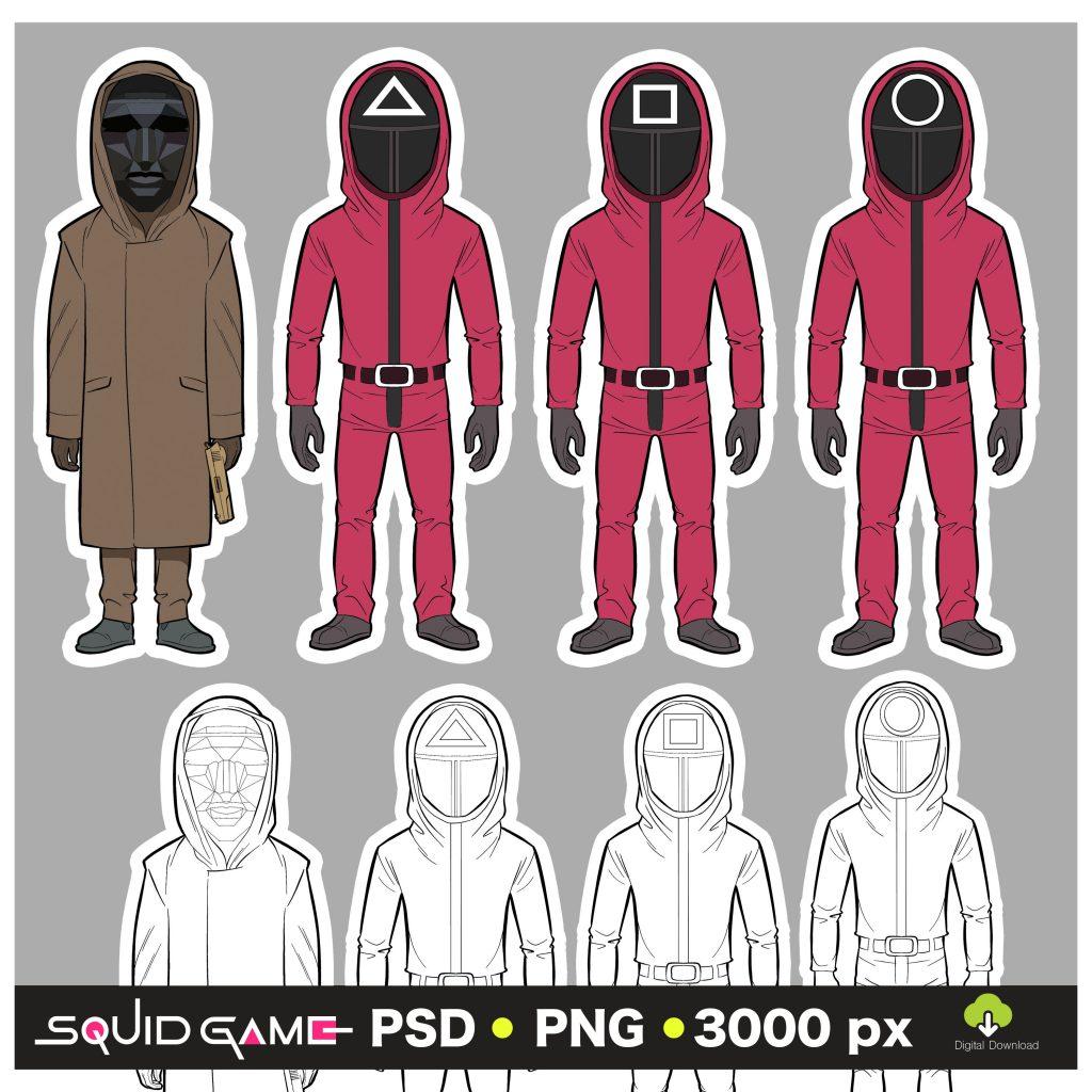 Squid Game Frontman Soldier PSD